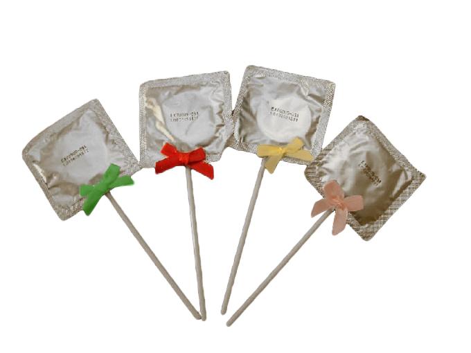 Kondomlutscher<br> mit Schleifchen<br>ca 15 cm