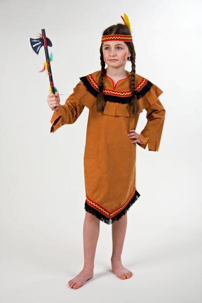Dziewczyna<br> indyjski strój i<br>kołnierz rozmiar 116