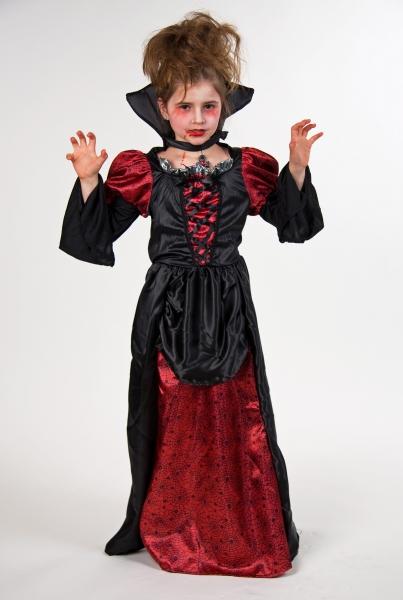 Vampire Girl Dress<br> z kołnierzem<br>Rozmiar 140