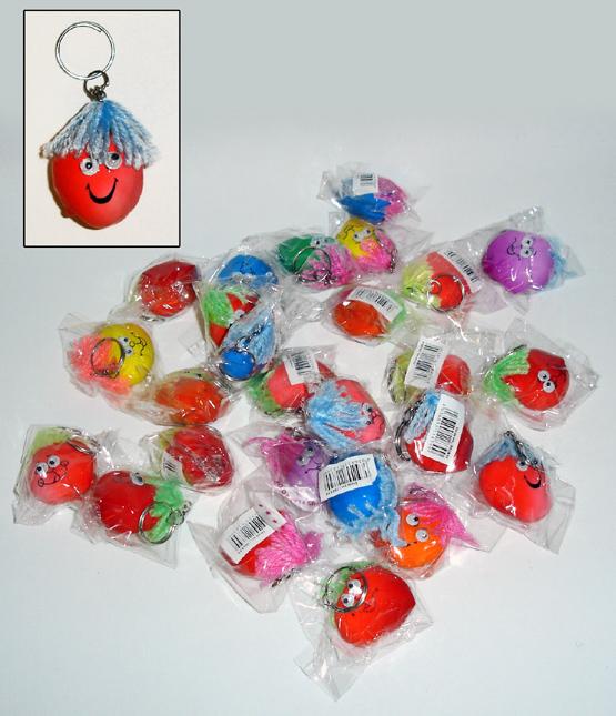 Knautschgesicht -<br> Mini stress ballen<br>te Schlüsselk