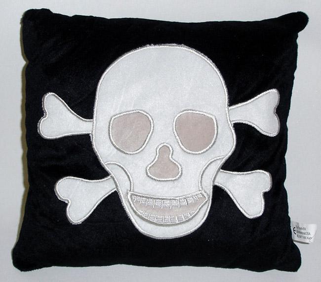 Totenkopfkissen -<br>ca 30 x 30 cm