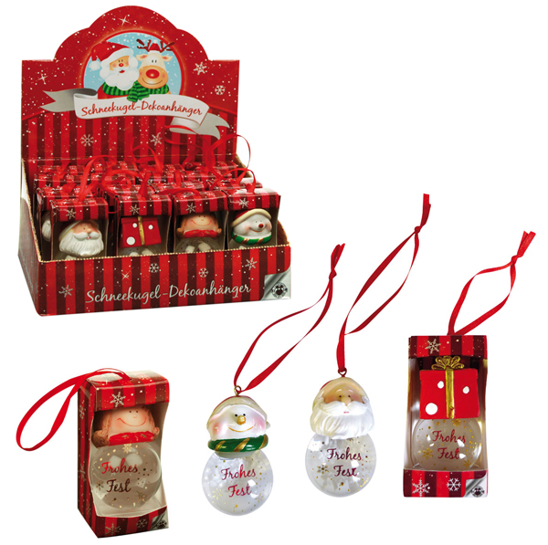 Neve di Natale<br> globo decorazione<br>pendente - circa