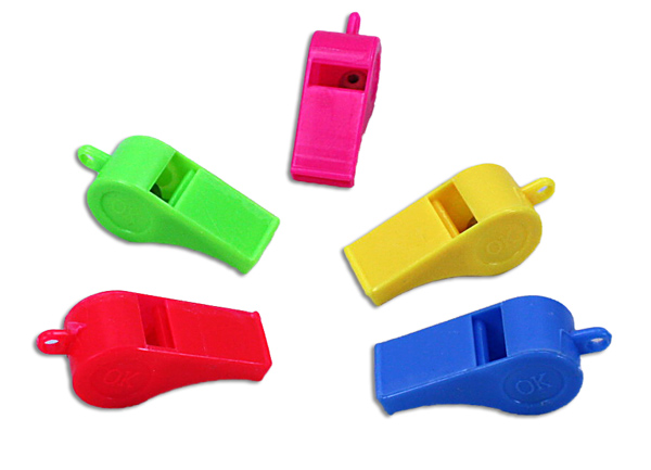 Whistle sorted 5x - 5 cm