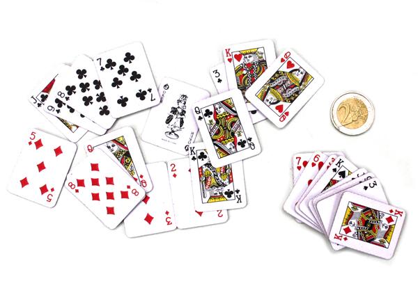 Kartenspiel mini<br> mit 54 Karten - ca<br>4x3cm