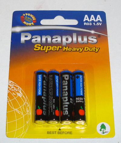 Batteries-AAA cells R03