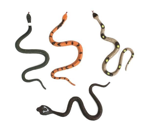 -Schlangen<br> Gummischlangen<br>4-fach - ca 17 cm