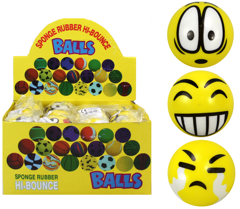 Balls with<br> grimaces assorted<br>designs approx 60mm