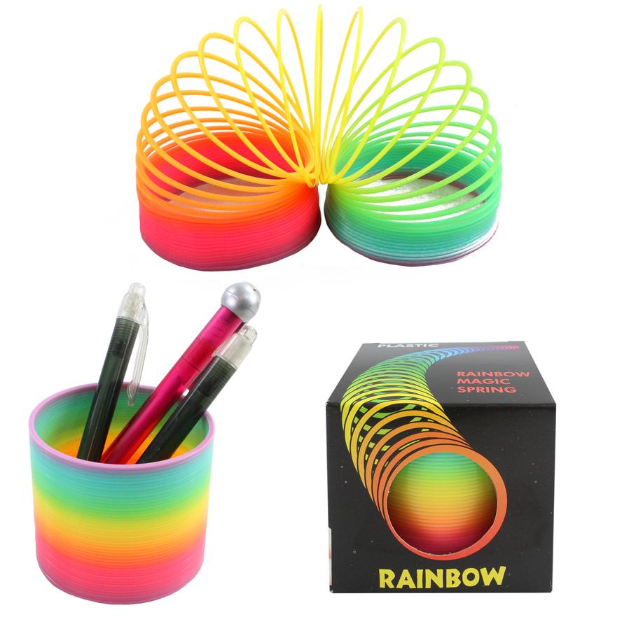 Rainbow spiral 8 cm