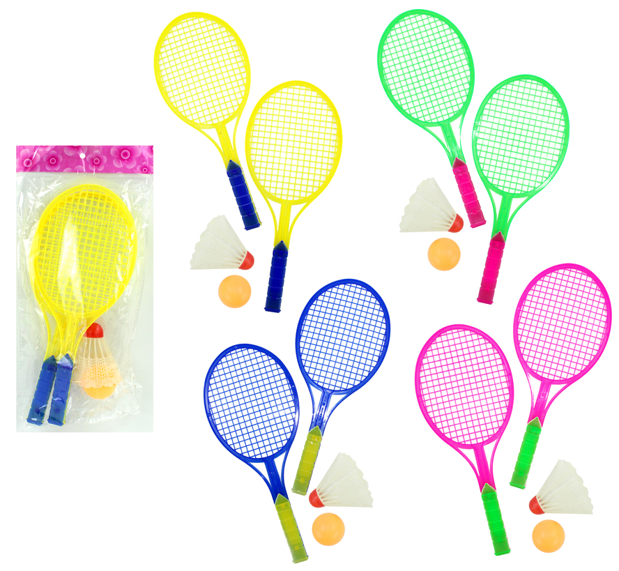 Badminton - 4<br> Assorted Colors ca<br>27 cm