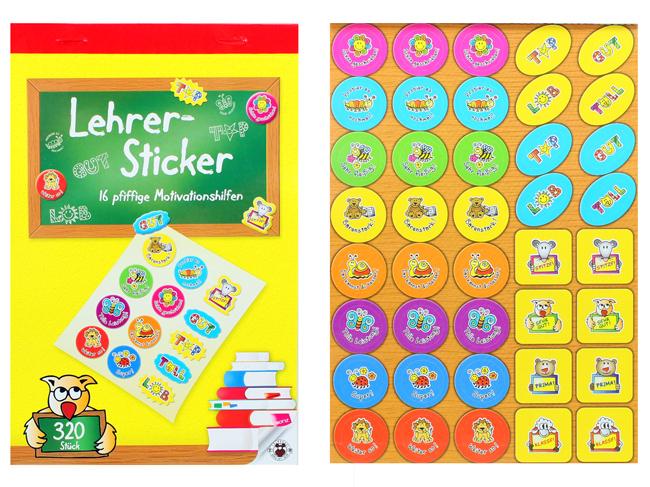 Teacher Sticker<br>Book 320 Stickers
