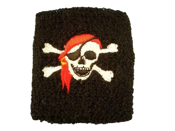 Pirates sweatband<br>approx 7 cm