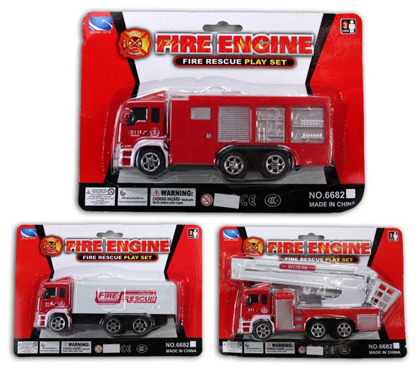Feuerwehrauto ca<br> 16 cm auf Karte ca<br>22x16cm