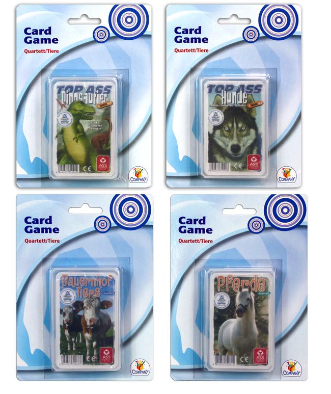 Rendezés kvartett<br> kártyajáték<br>állatok többször