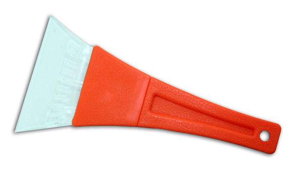 Ice scraper in<br> orange - approx<br>24x11, 5cm