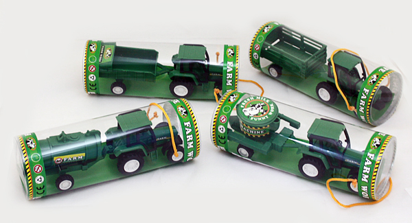 Tractor with<br> Trailer - 4<br>assorted - in box c
