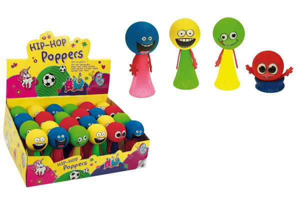 Hüpfclown - Hip<br> Hop Poppers 4<br>assorted - approx 9