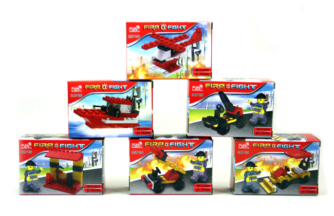 Blocks fighters 6<br>assorted in box