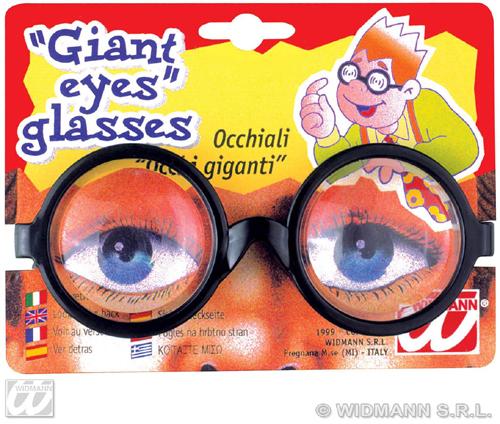 Scherz -<br> Riesenaugen Brille<br> auf Karte ca 14x11 ...