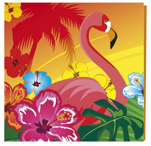Servietten -<br> Hawaii 12 Stück -<br>ca 33x33cm