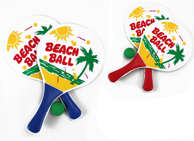 Beach ball game sorted 2x - approx 33x19cm
