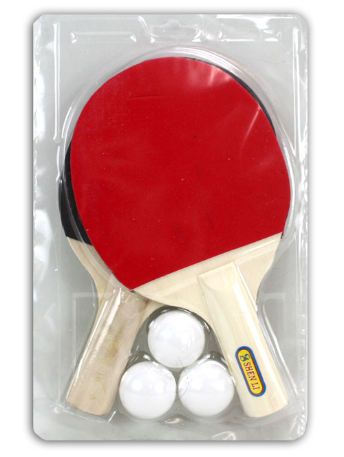 Table tennis set<br> in double blister<br>ca 29x18, 5cm