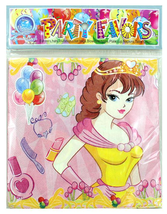 Servietten<br> Prinzessin Design<br>20 Stück im Beutel