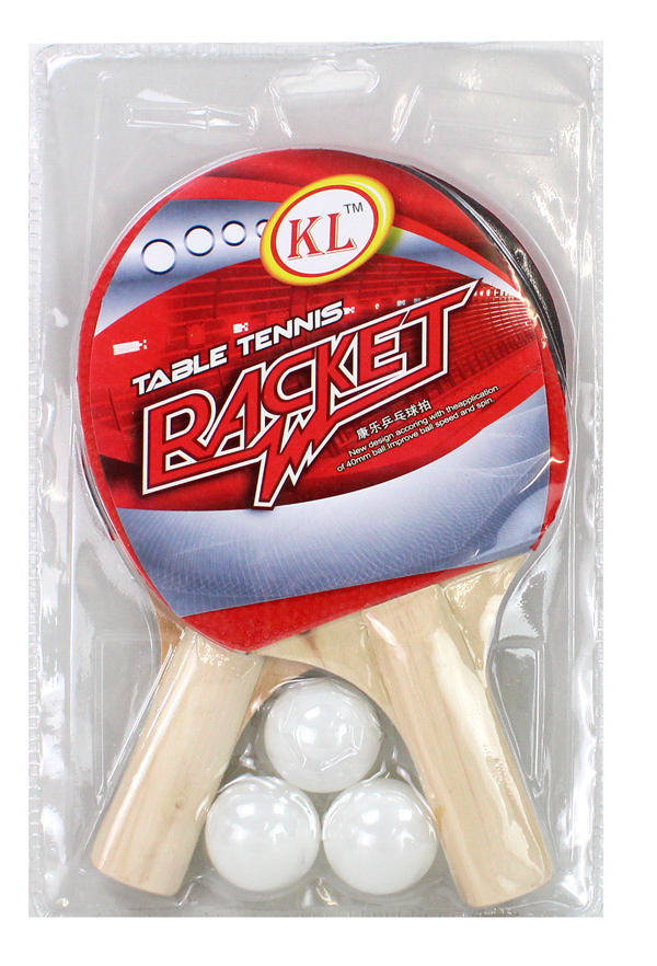 Table tennis set<br> in blister ca<br>19x29cm