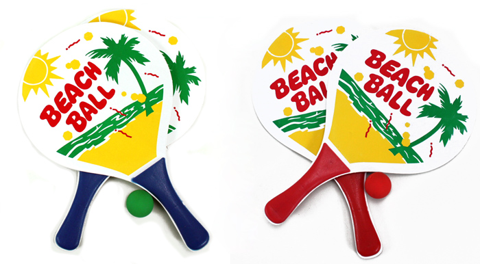 Beach ball game sorted 2-fold