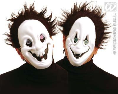 Maske -<br> Geistermaske mit<br> Haaren und ...