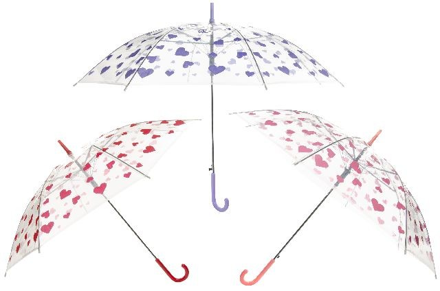 Umbrella with<br>heart design 85 cm