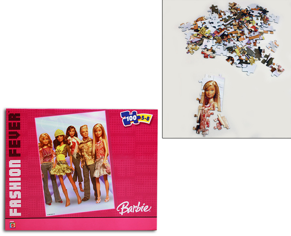 Puzzle Mattel 100<br> parts sorted in<br>cardboard ca 25x
