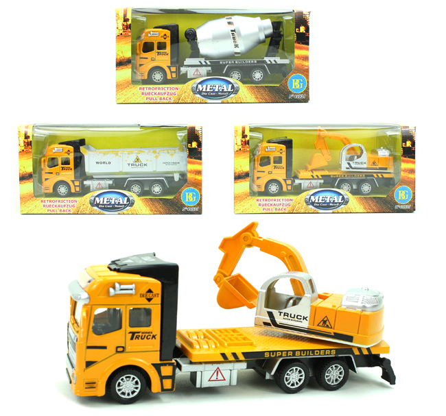 Construction<br> Vehicles metal 3<br>assorted ca 19 cm