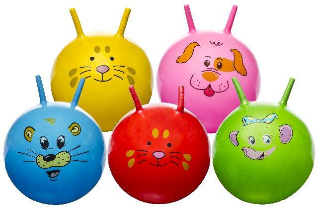 Hüpfball mit<br> Tiergesicht<br> mehrfach sortiert ...