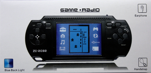 Game console with<br> radio and earrings in ...