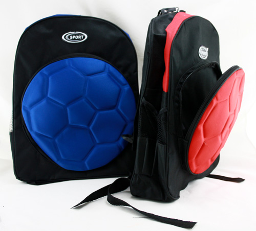 Backpack in red<br> and blue approx<br>38x30x16 cm