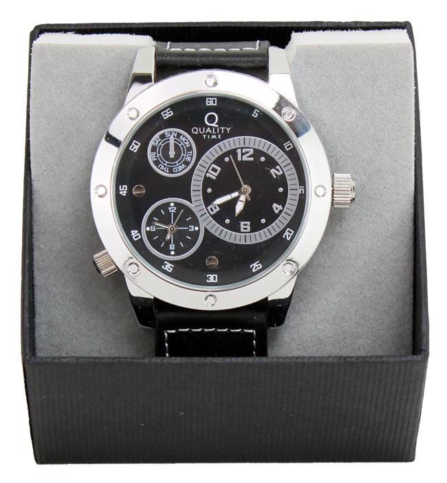 Męski zegarek<br>Podwójny czas