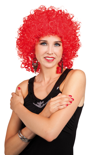 Wig - Club curly<br>hair red