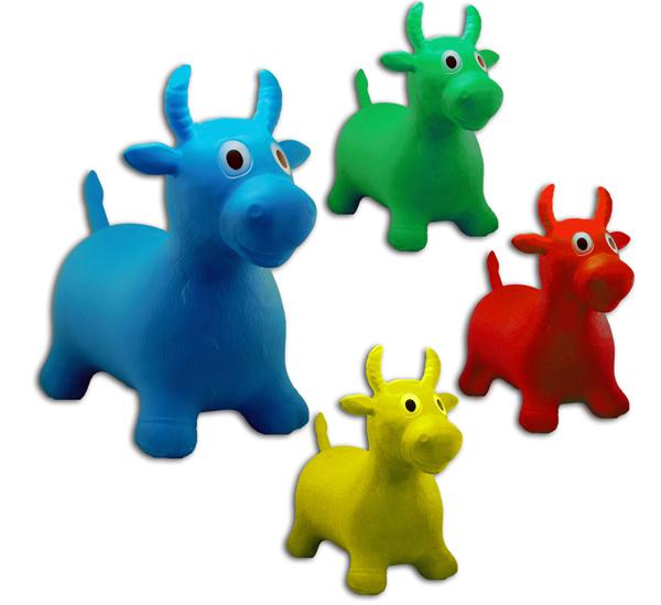 Hüpfkuh für Kinder<br> farbig sortiert -<br>ca 63cm