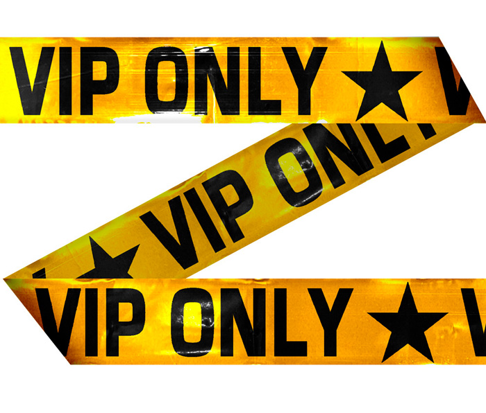 Cordon VIP<br> approximately 15<br>meters!