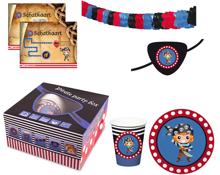 Piratenpartij Box<br> 25tlg - ca.<br>19x19x9, 5cm