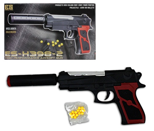 Kugelpistole mit<br> Schalldämpfer max<br>0,08 J - ca 28c