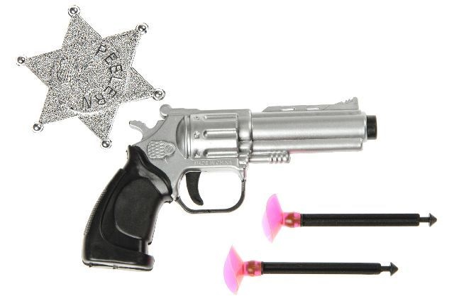 Pistole mit 2<br> Pfeilen und<br>Sheriffstern