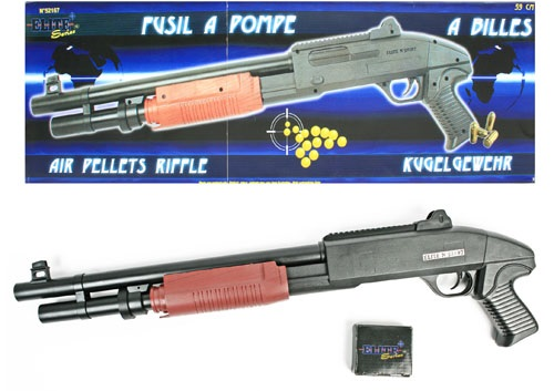 Kugelpumpgun<br> approx 59 cm -<br>0.50 Joules