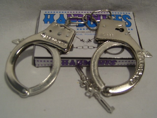 Metal Handcuffs in Box