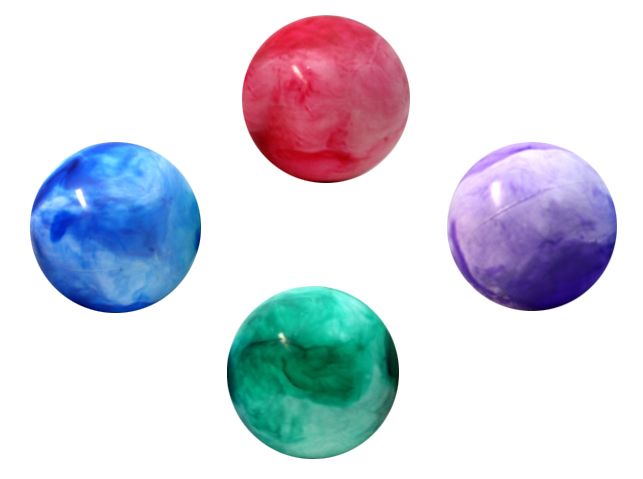 Ball - Aufblasball -<br>marbled 4 assorted -