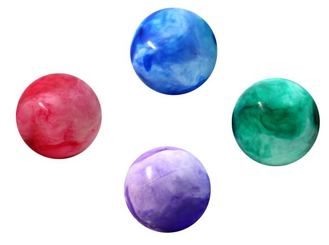 Ball - Aufblasball<br> - marbled 4<br>assorted -