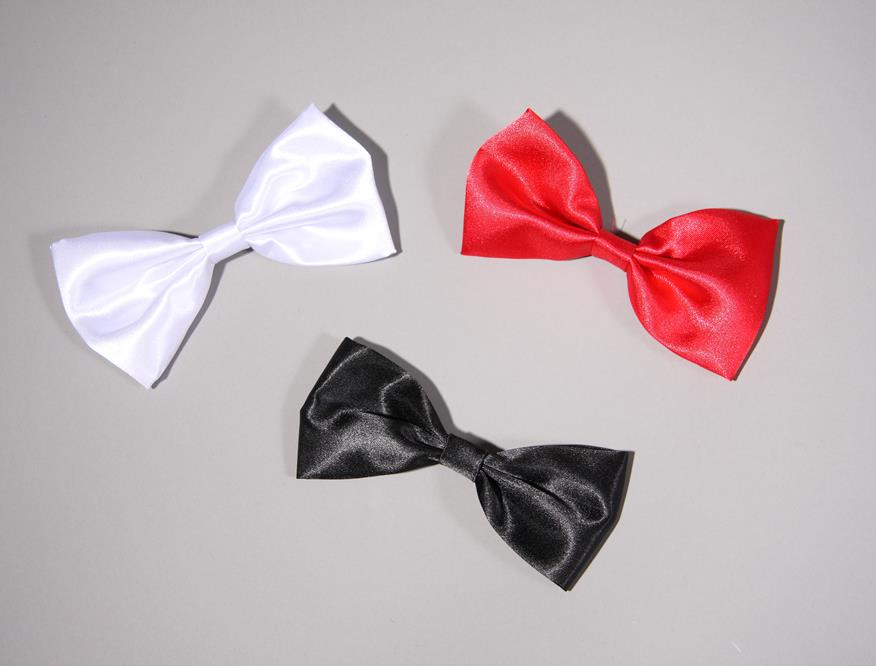 Satin bow tie, red