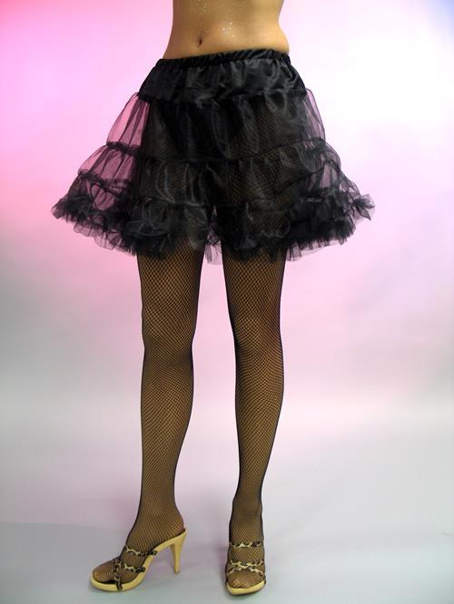Gr.M Petticoat,<br> schwarz, ca. 40 cm<br>lang