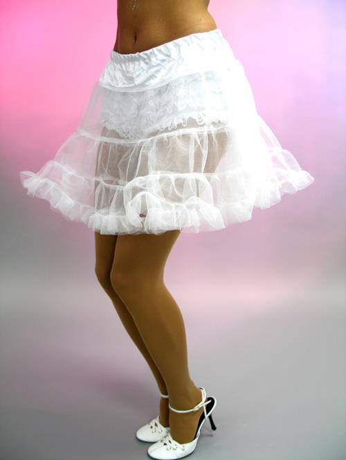 Gr.M Petticoat,<br>weiß, ca. 40 cm lang